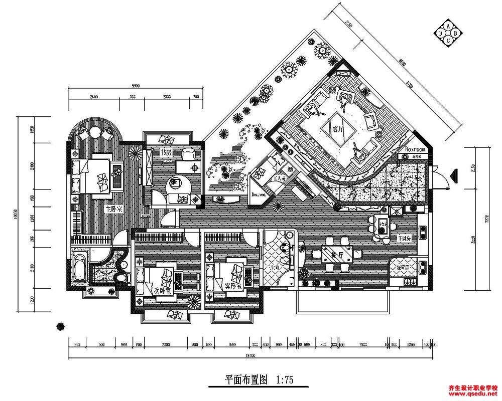 室内设计CAD方案作品图