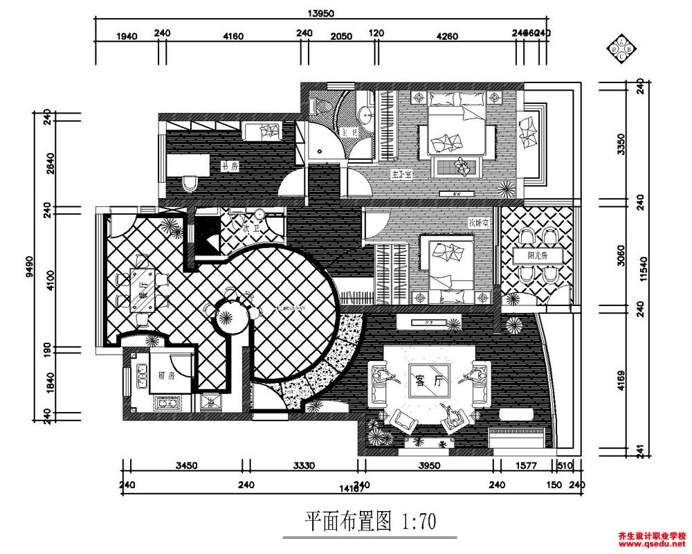 CAD室内方案设计作品
