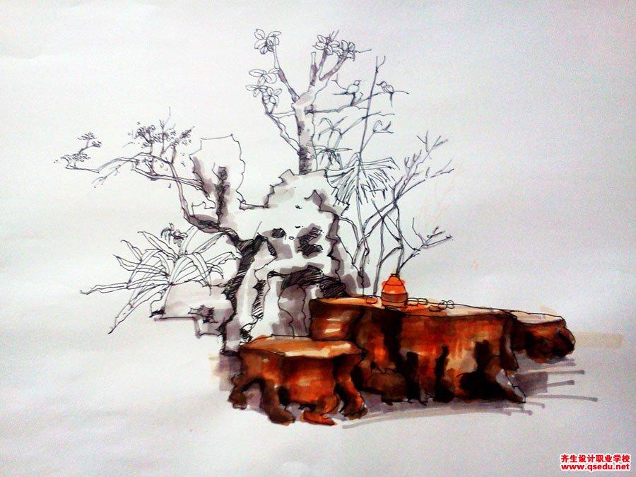 齐生设计职业学校2011年6月手绘课照片8