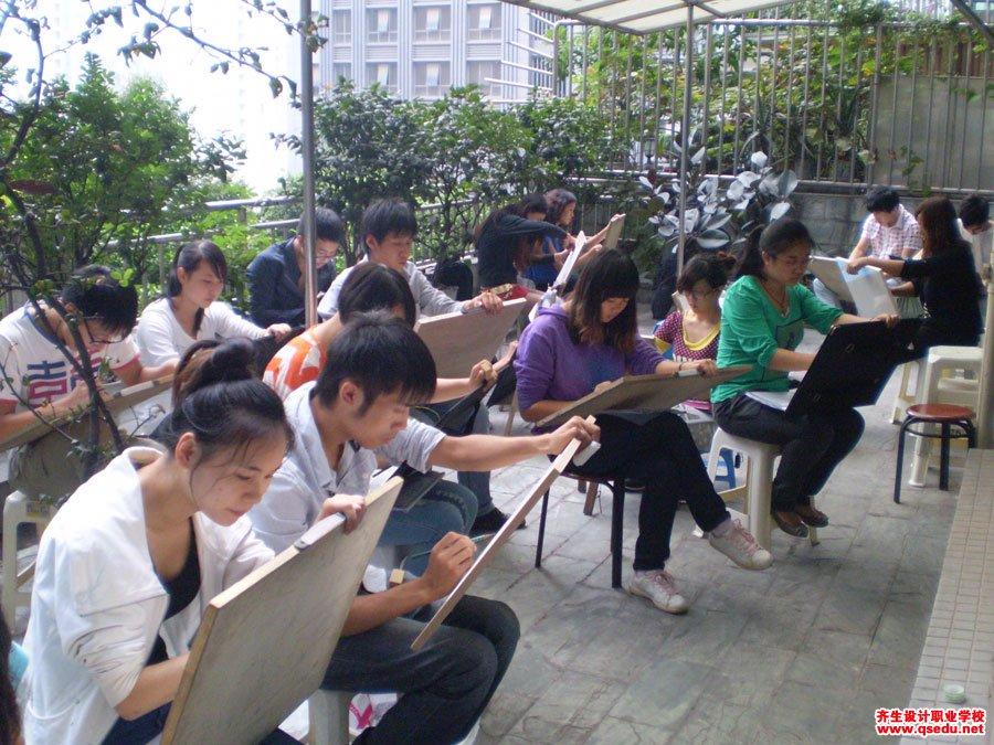 齐生设计职业学校2012年9月手绘课1