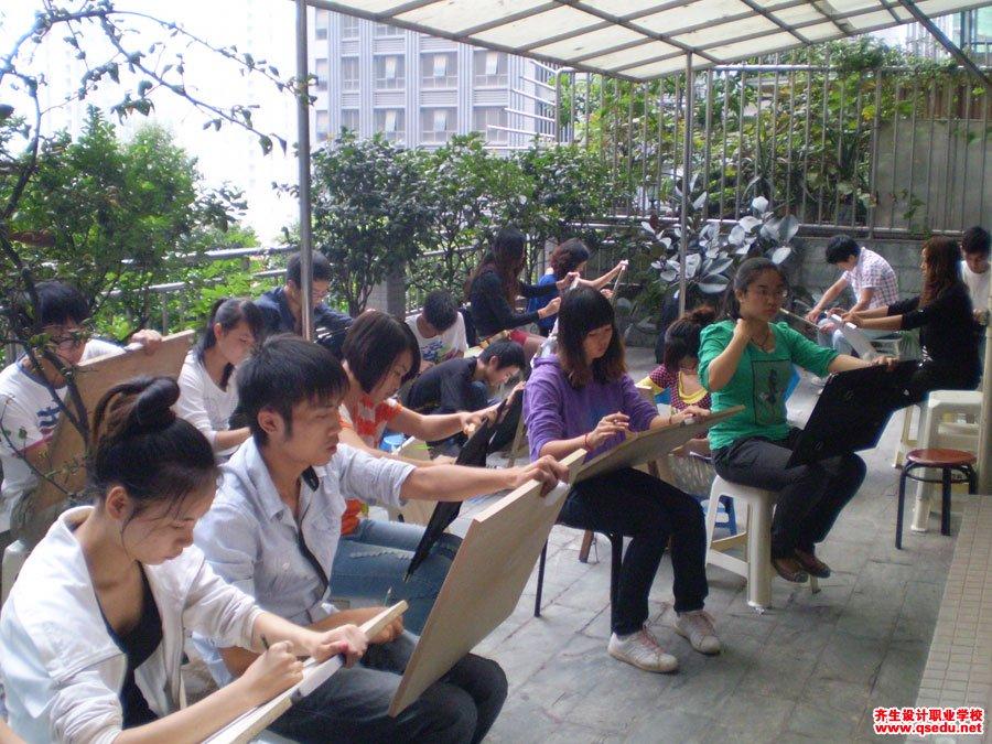 齐生设计职业学校2012年9月手绘课2