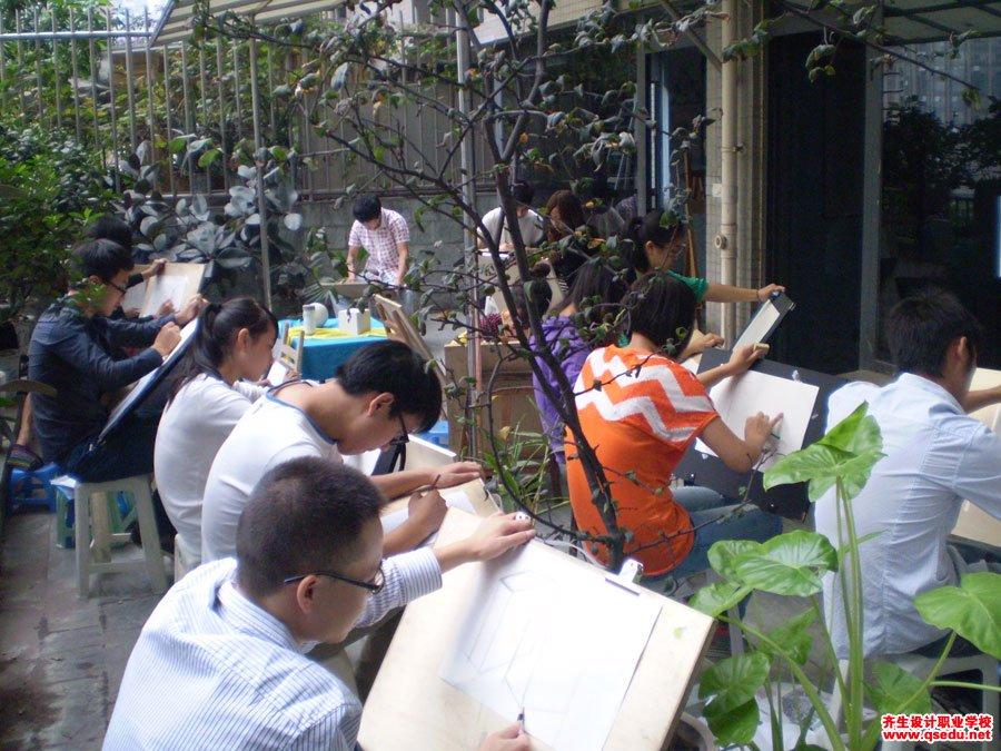 齐生设计职业学校2012年9月手绘课3