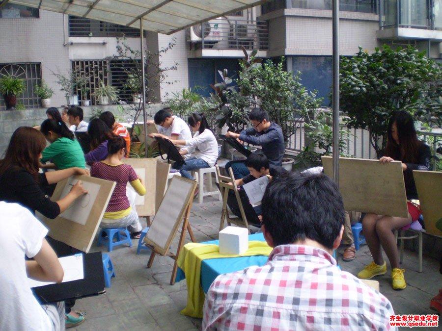 齐生设计职业学校2012年9月手绘课4