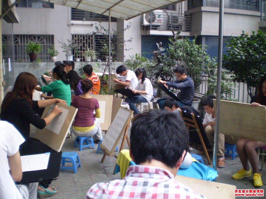 齐生设计职业学校2012年9月手绘课5