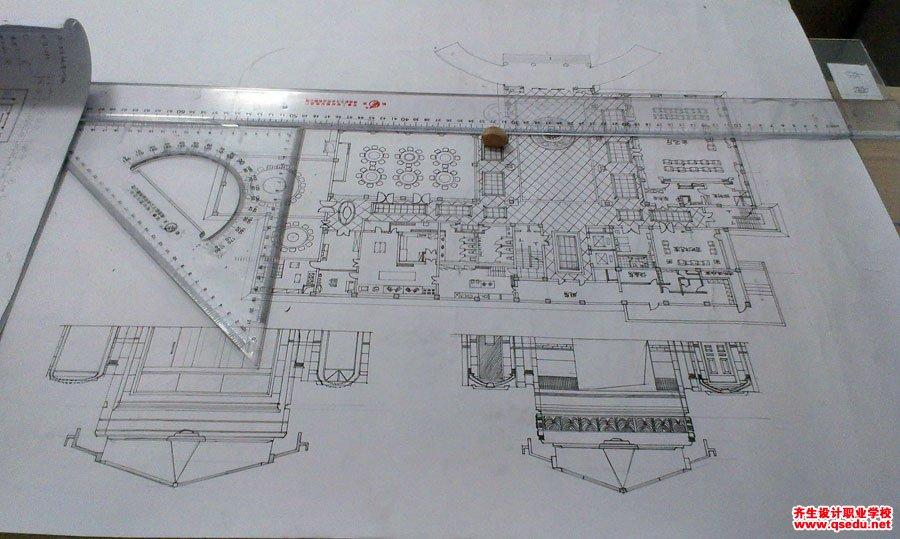 齐生室内设计手绘评图照片4