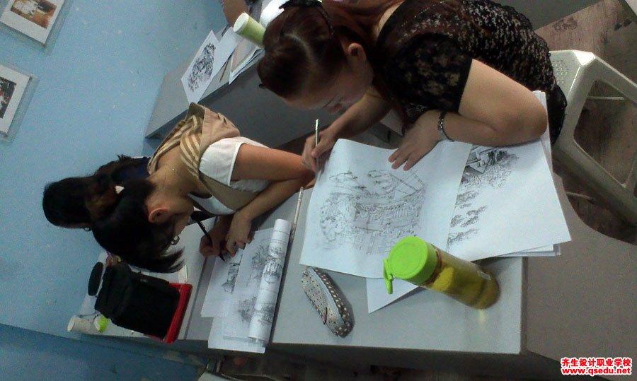 齐生设计职业学校2013年8月手绘课2