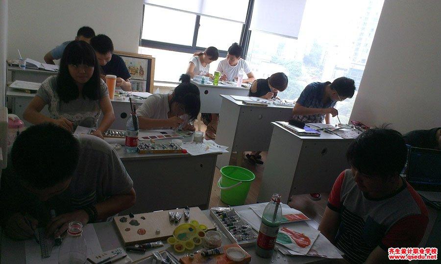 齐生设计职业学校2013年8月手绘课4