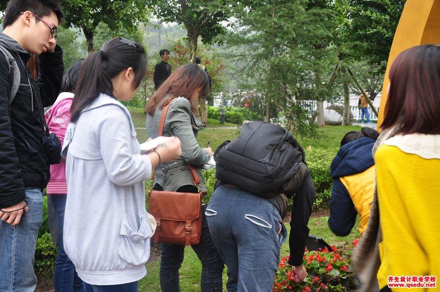 齐生设计职业学校2013年11月校外学习照片6