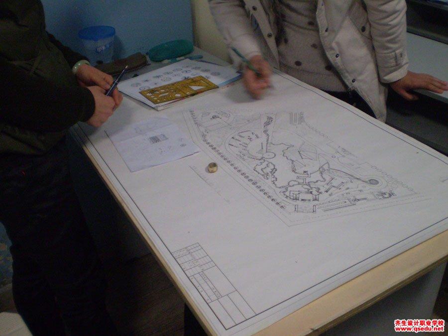 齐生园林景观设计手绘方案平面图制图5
