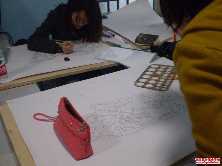 齐生园林景观设计手绘方案平面图制图6