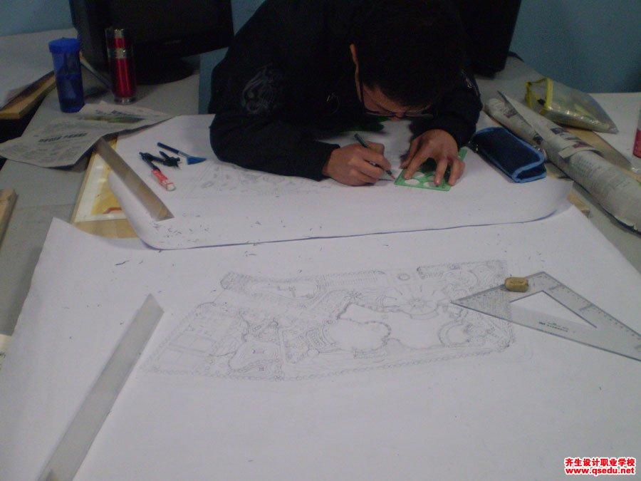 齐生园林景观设计手绘方案平面图制图7