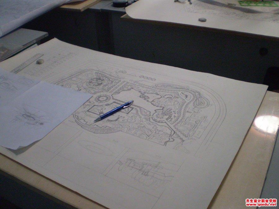 园林景观手绘平面方案制图4