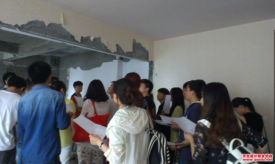 室内设计专业新生施工现场学习3