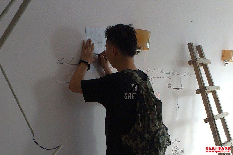 室内设计专业新生施工现场学习5