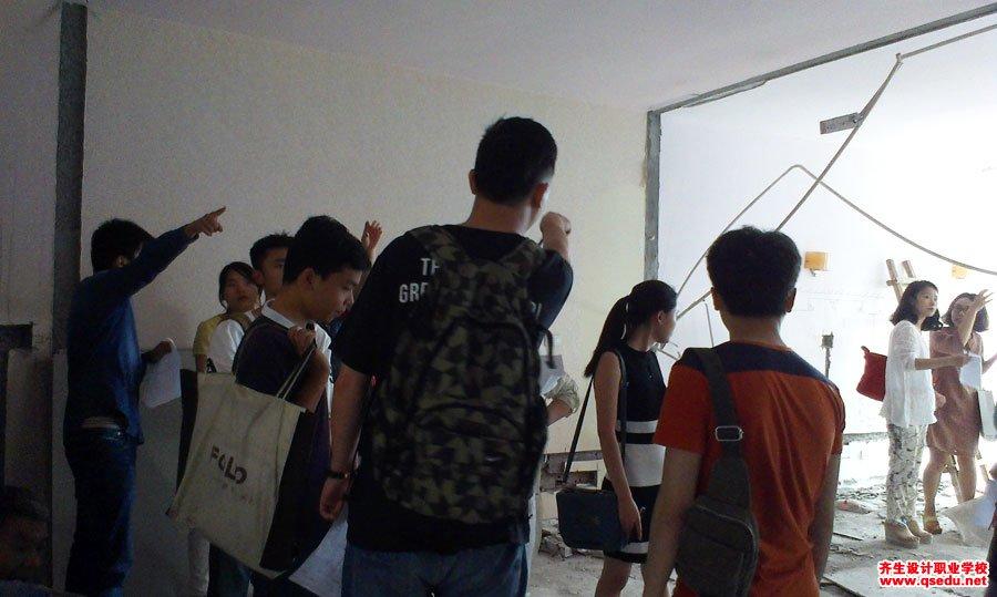 室内设计专业新生施工现场学习9