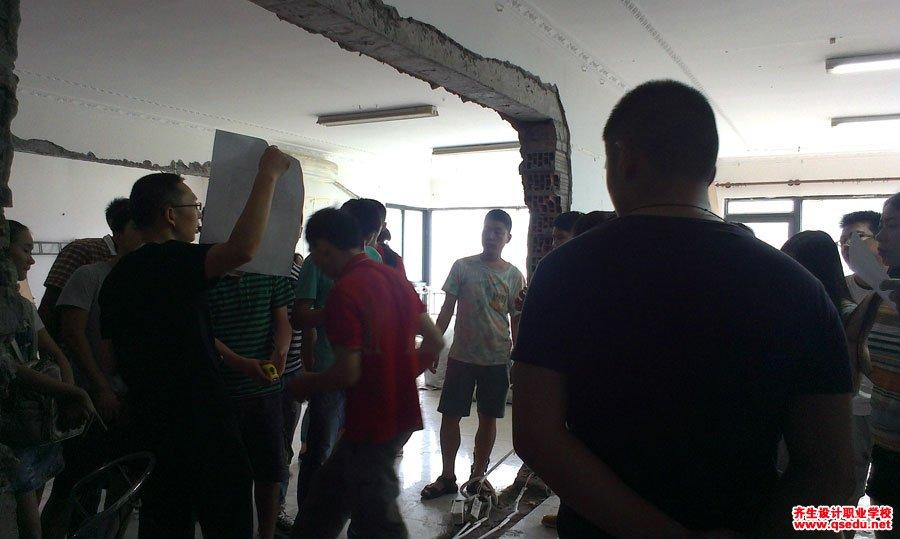 室内设计工装施工放线现场学习7