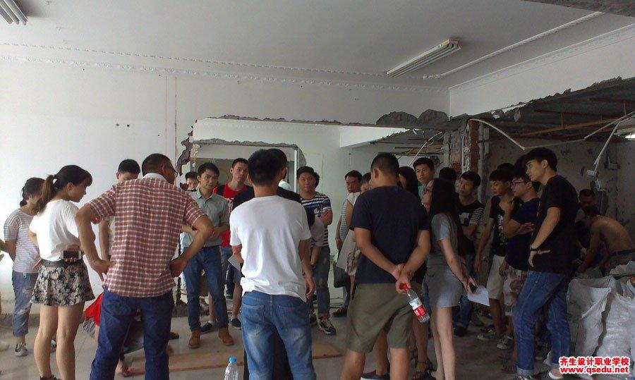 室内设计工装施工放线现场学习8