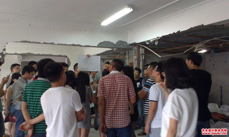 室内设计工装施工放线现场学习1