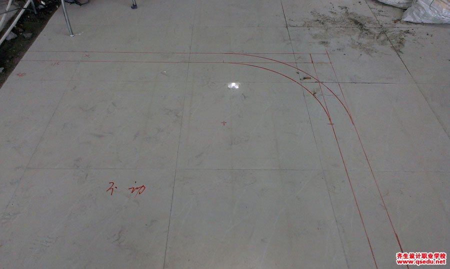 室内设计工装施工放线现场学习9