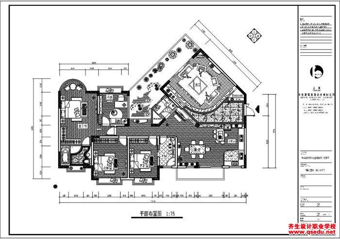 室内设计CAD平面图
