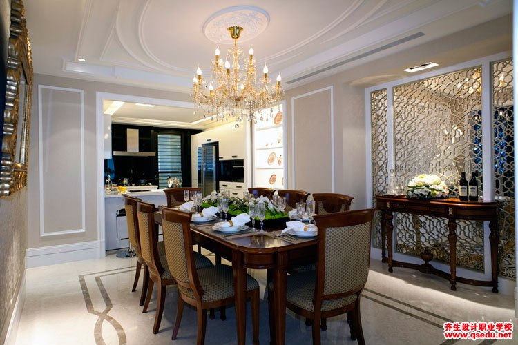 室内设计欧式风格餐厅效果图