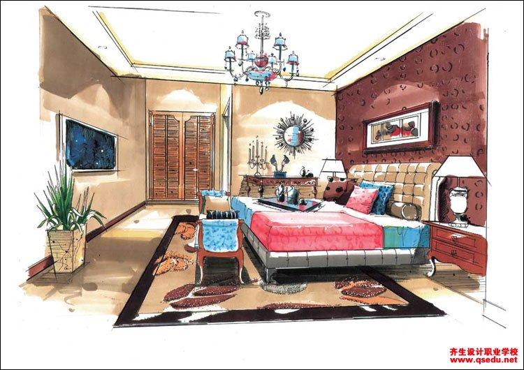 室内手绘效果图3