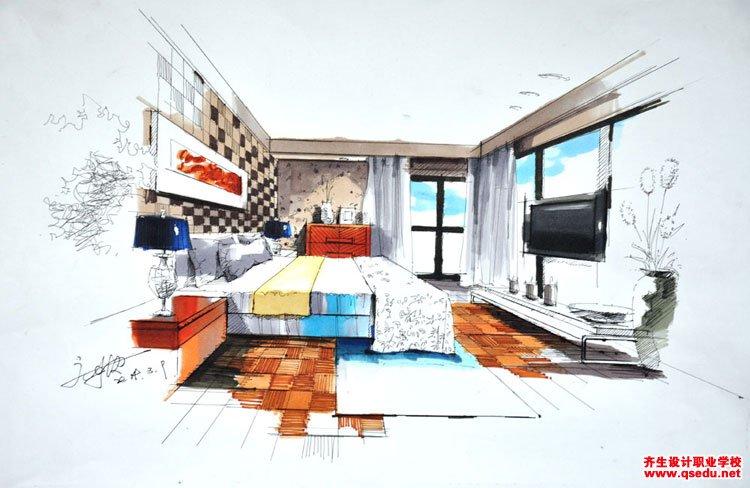 室内手绘效果图5