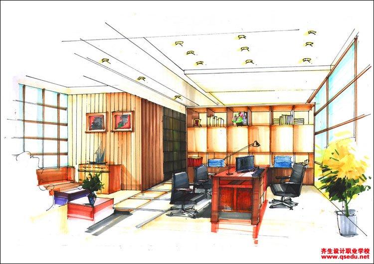 室内手绘效果图7