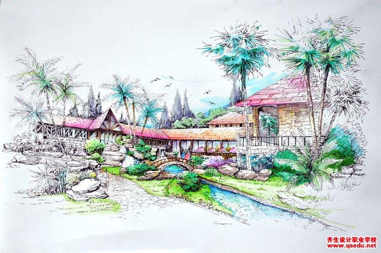 园林景观设计手绘培训班