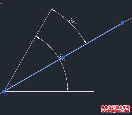 CAD平分任意前期的角对接线?-齐生v前期包装设计角度绘制图片