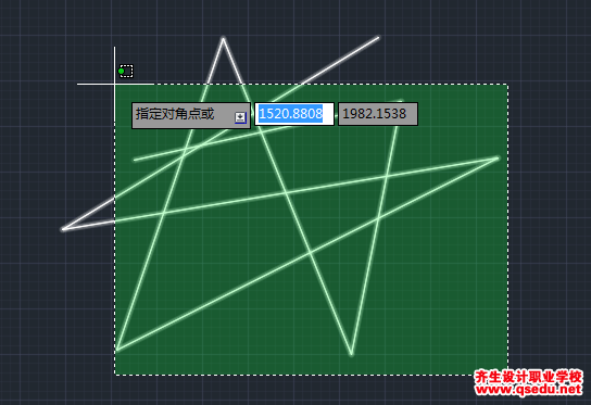 CAD2015、CAD2016的窗口选择框的套索怎么改为矩形?