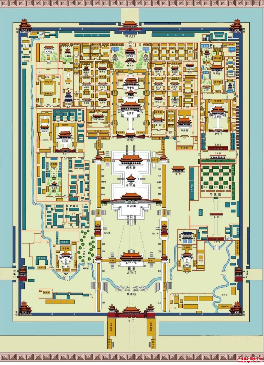 北方皇家园林平面图(故宫,圆明园,颐和园,承德避暑山庄等)