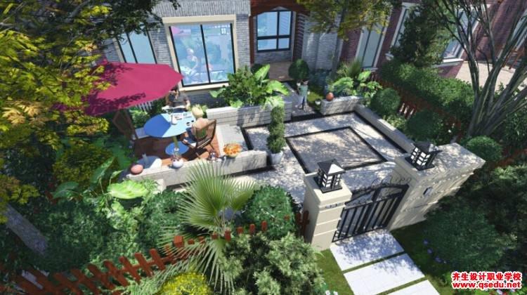 别墅庭院景观设计住宅基地的组成