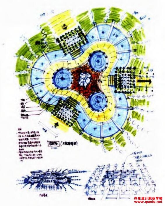 景觀快題設計之概念構思草圖