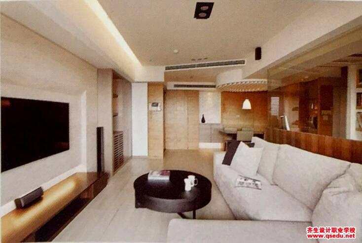 客厅设计:餐厅墙面不规则且三室竟只有一个出口的解决方法