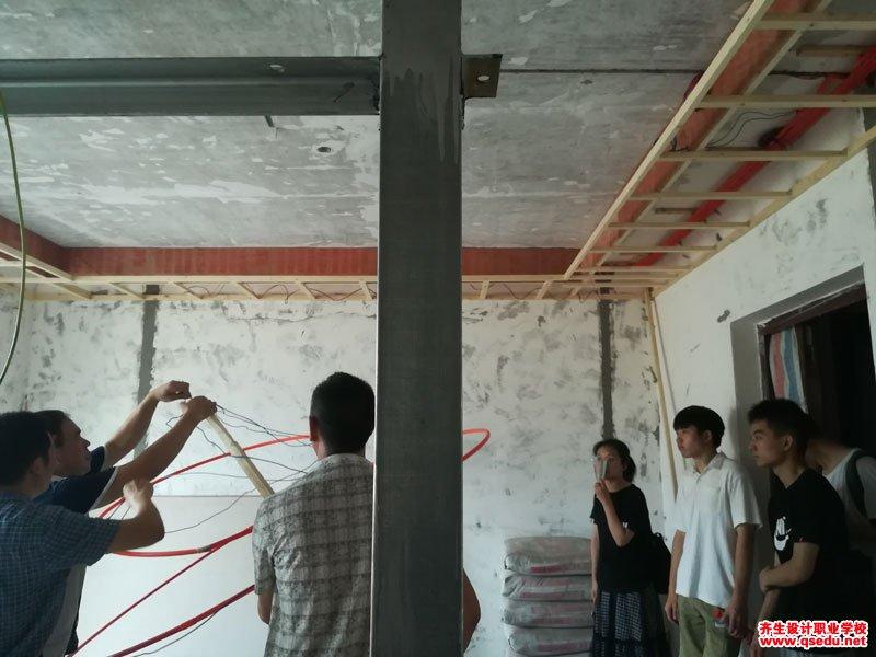 齐生室内设计培训42班吊顶工艺现场学习