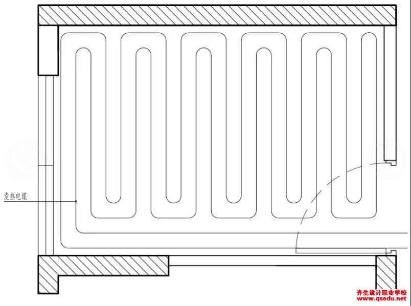 地暖的施工流程及不同地板管道该如何排布?